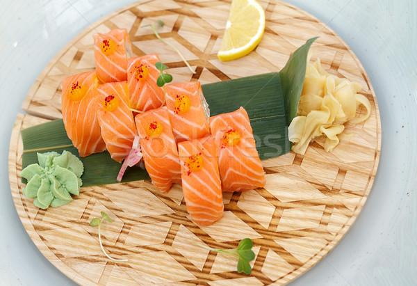 Friss szusi étel hal konyha vacsora Stock fotó © fogen