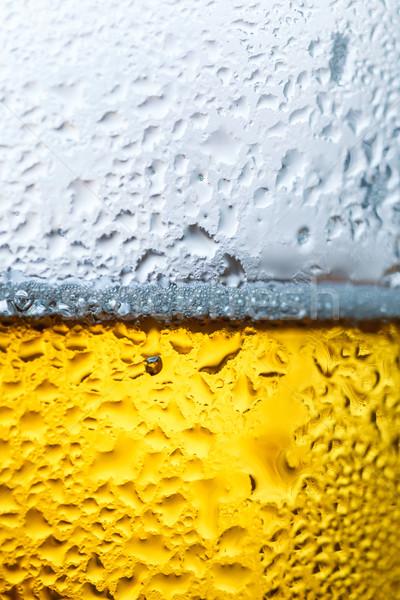 Cerveza inglesa vidrio bebida fría primer plano alimentos color Foto stock © fogen