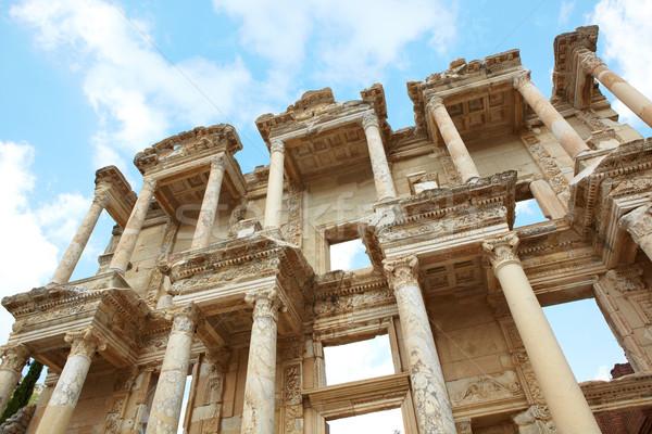 Stock fotó: Törökország · óriási · könyvtár · város · modern · nap