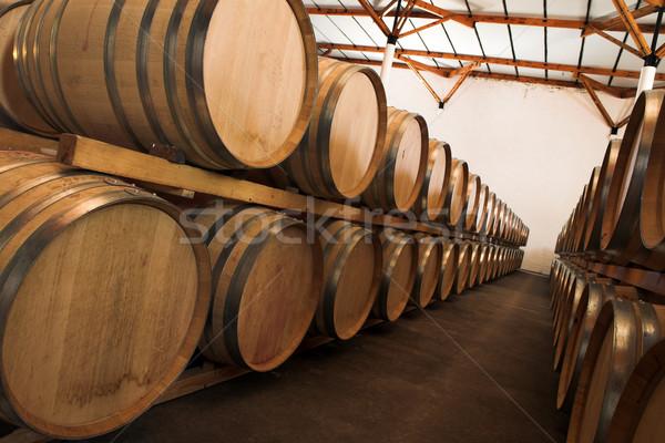 Barrels with wine Stock photo © Forgiss