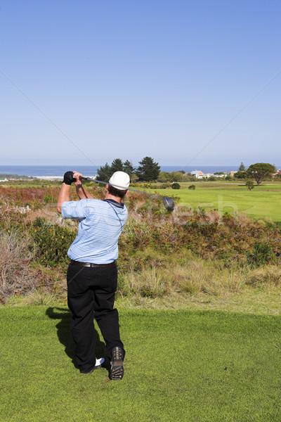 Foto d'archivio: Golf · 15 · uomo · giocare · verde · relax