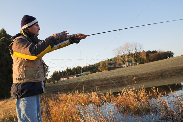 Flyfishing #17 Stock photo © Forgiss