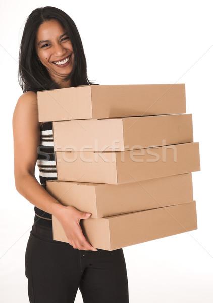 Africaine femme d'affaires bureau pantalon noir Photo stock © Forgiss