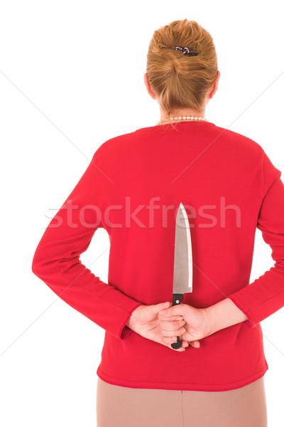 Blonde Murderess woman Stock photo © Forgiss