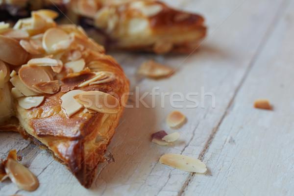 Amandel bes vers gebak glazuursuiker bruin Stockfoto © Forgiss