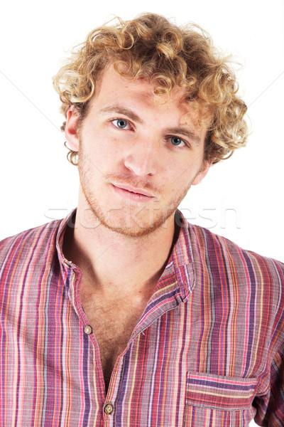 Młody człowiek młodych dorosły człowiek Zdjęcia stock © Forgiss