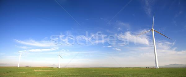 Wind powered turbine Stock photo © Forgiss