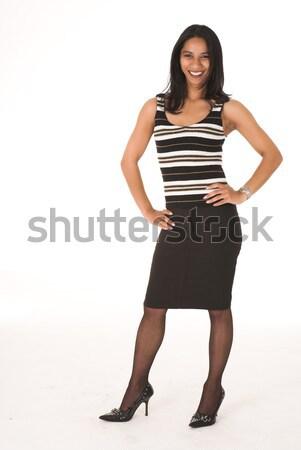 Afrikaanse zakenvrouw toevallig kantoor zwarte Stockfoto © Forgiss