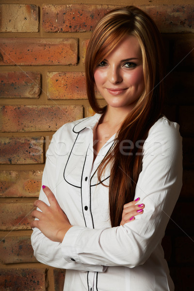 beautiful young woman Stock photo © forgiss