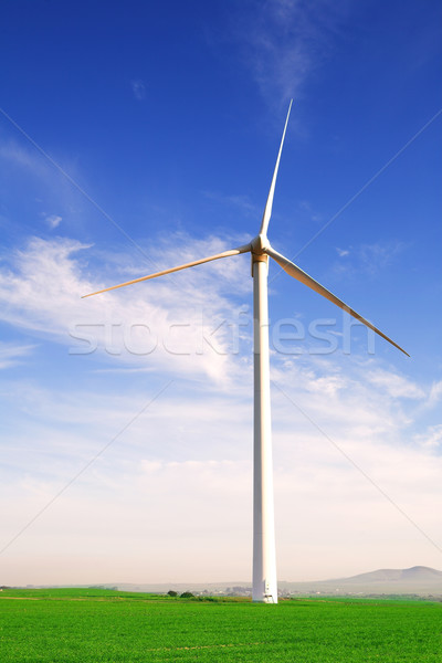 Wind powered turbine Stock photo © Forgiss
