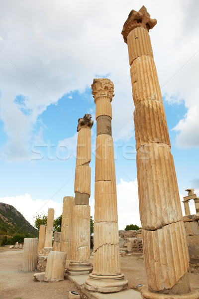 Oude ruines stad moderne dag Turkije Stockfoto © Forgiss