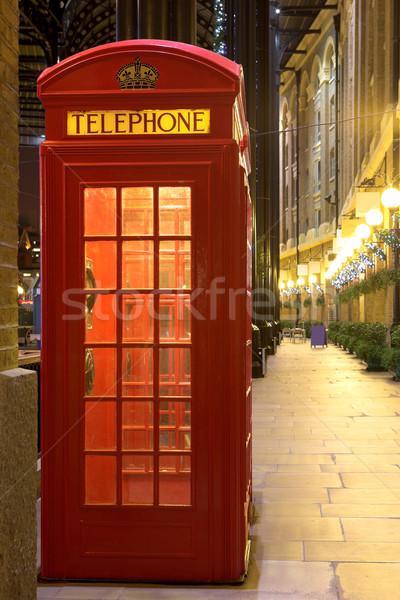 телефон стенд Лондон путешествия красный связи Сток-фото © Forgiss