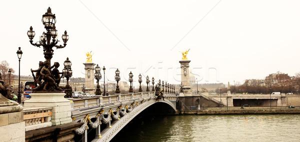 Paryż most Francja ruchu samochody jazdy Zdjęcia stock © Forgiss