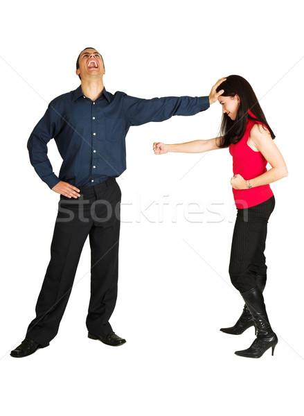 Сток-фото: бизнесмен · деловая · женщина · белый · женщины