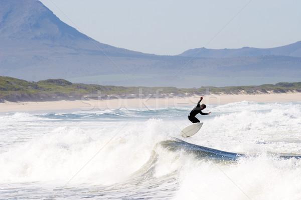 Surfer неизвестный пляж ЮАР человека спорт Сток-фото © Forgiss