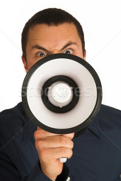 человека мегафон мелкий бизнеса бизнесмен связи Сток-фото © Forgiss