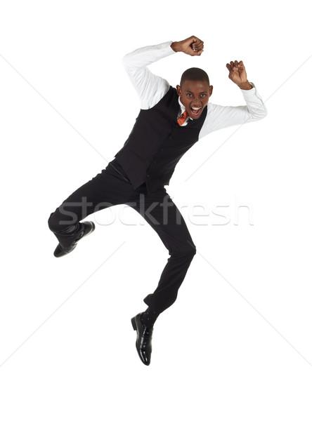 Zwarte afrikaanse zakenman jonge formeel Stockfoto © Forgiss