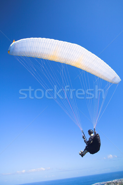 Paraglider launching from the mountain ridge Stock photo © Forgiss