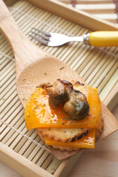 Vers kaas outdoor keuken voedsel toast Stockfoto © Forgiss