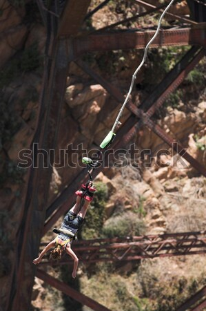 Rio ponte África do Sul movimento homem areia Foto stock © Forgiss