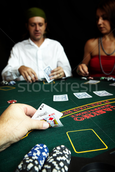 Poker Hand Stock photo © Forgiss
