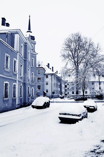 Straubing under snow Stock photo © Forgiss