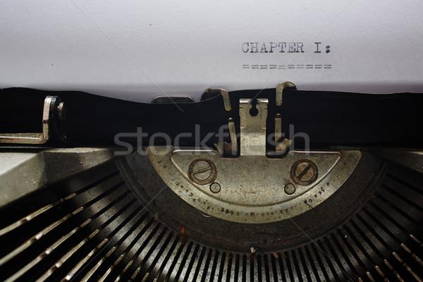 Oude schrijfmachine afbeelding lint stijl Stockfoto © forgiss
