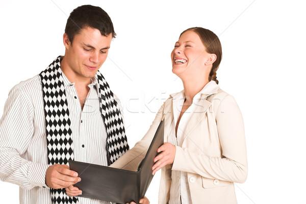 Gente de negocios dos una mujer uno hombre Foto stock © Forgiss