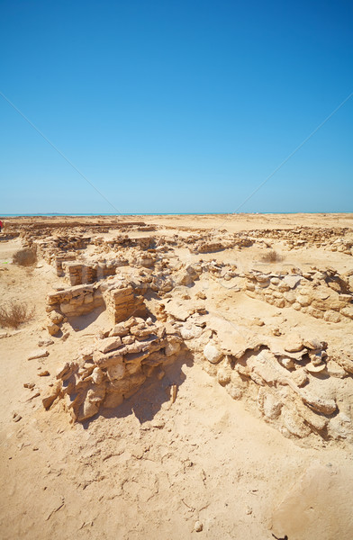 Ruinen Wüste Original Handel post wenig Stock foto © forgiss