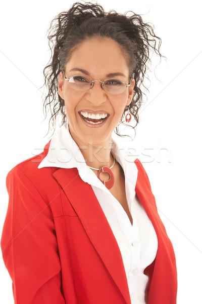 Belle femme d'affaires portrait jeunes cheveux bouclés Photo stock © Forgiss