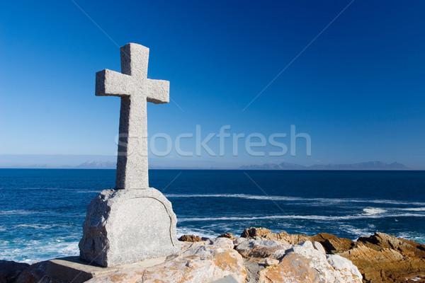 12 starych kamień grobu krzyż Zdjęcia stock © Forgiss