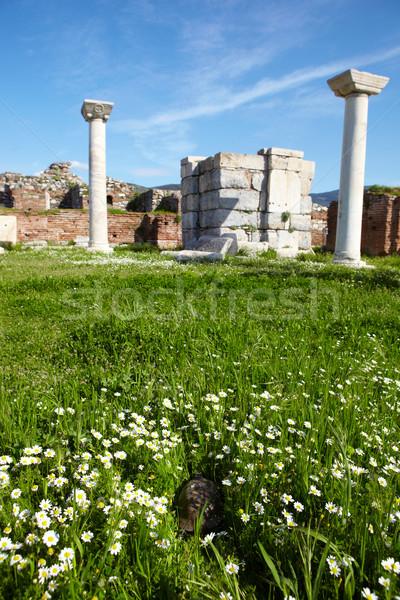 The ruins of the st. Johns Basilica Stock photo © Forgiss