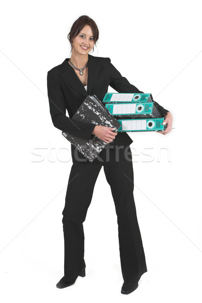 Negocios dama mujer de negocios negro palanca arco Foto stock © Forgiss