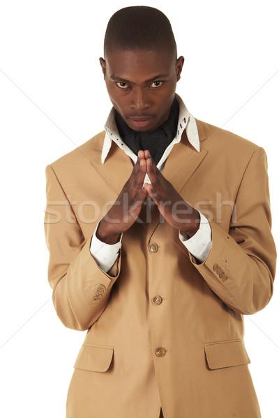 Zwarte afrikaanse zakenman jonge professionele volwassen Stockfoto © Forgiss