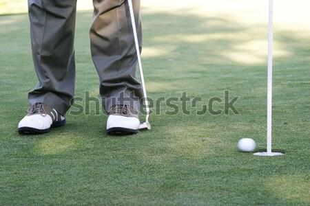 Verde golf sport bandiera maschio swing Foto d'archivio © Forgiss