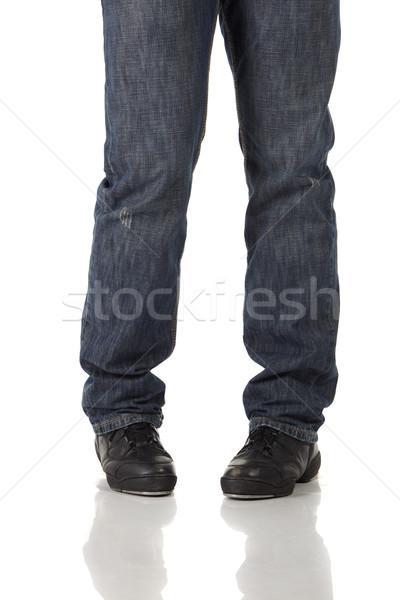 водопроводной танцовщицы обувь шаги белый Сток-фото © forgiss