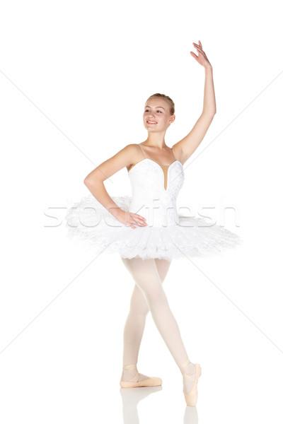 Jeunes ballerine fille blanche Photo stock © Forgiss