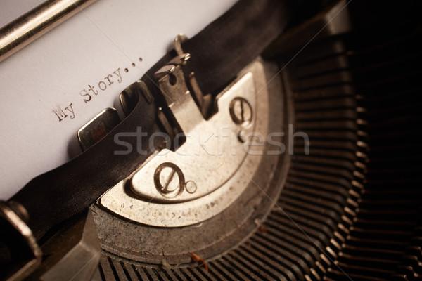 Old typewriter Stock photo © forgiss