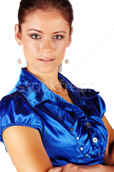 Bella bruna donna imprenditrice Foto d'archivio © Forgiss