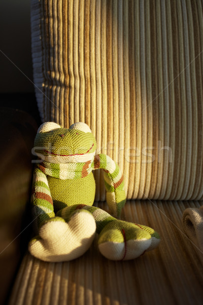Knitted toy frog Stock photo © Forgiss