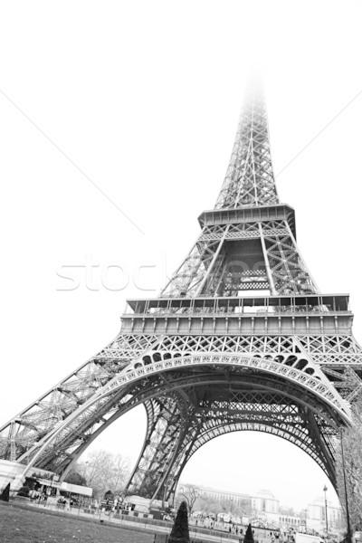 Paris 18 Torre Eiffel França preto e branco cópia espaço Foto stock © Forgiss