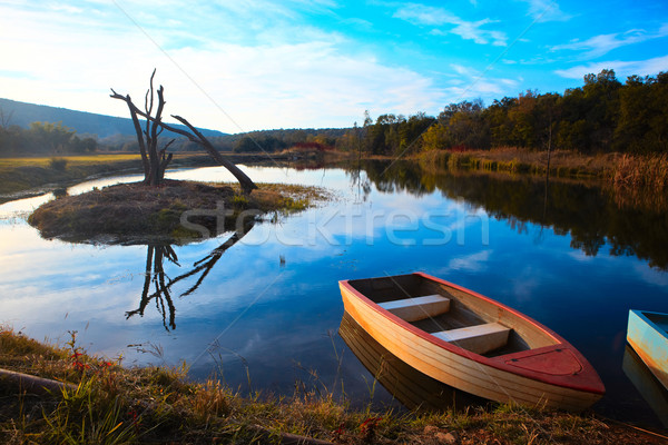 Tranquil fishing boat Stock photo © Forgiss