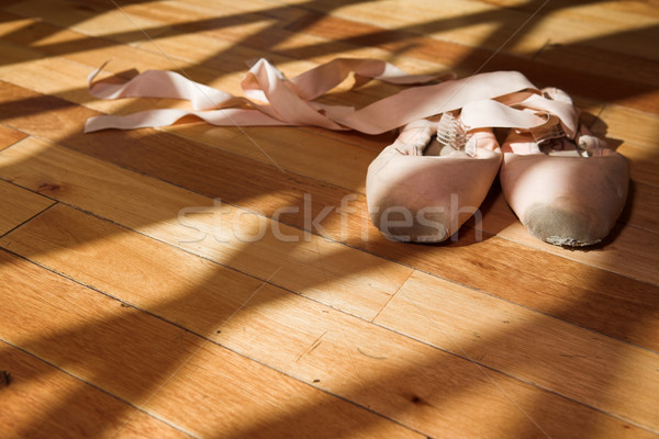 Pointe Shoes on studio floor Stock photo © Forgiss