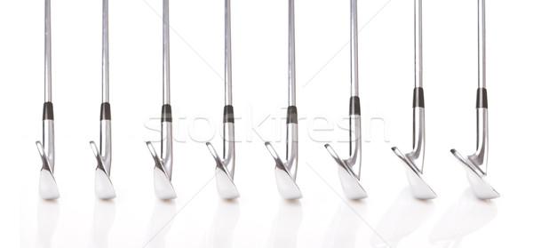 Golfütők szett profi ék hagyományos fém Stock fotó © Forgiss