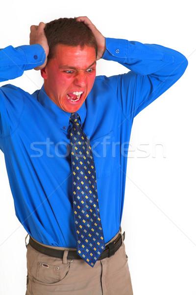 Raiva gestão vermelho empresário gritando negócio Foto stock © Forgiss