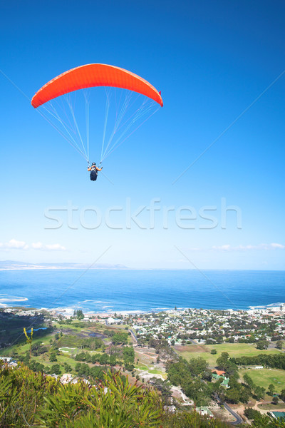 Paraglider ridge soaring next to the mountain Stock photo © Forgiss
