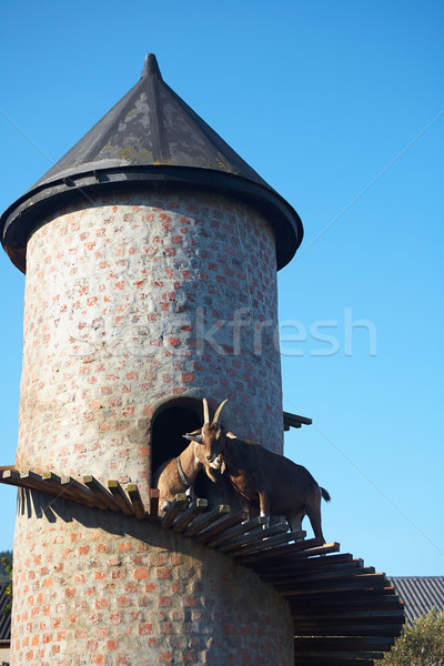 Goat on a tower Stock photo © forgiss