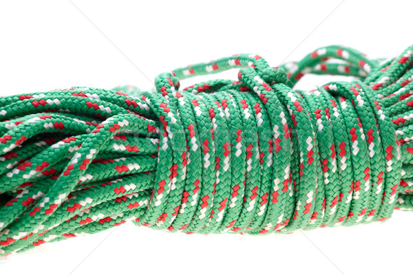 Green nylon rope Stock photo © Forgiss