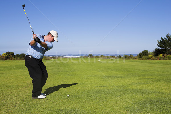 Golf 22 hombre jugando verde relajarse Foto stock © Forgiss