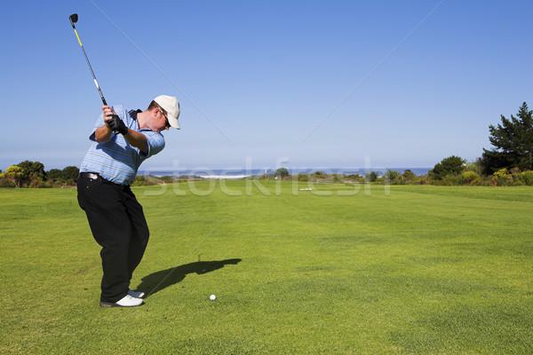 Golf 22 man spelen groene ontspannen Stockfoto © Forgiss
